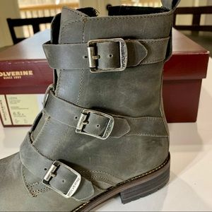 e50f19cff95 Wolverine 1883 by Women's Lizzie Combat Boot NWT